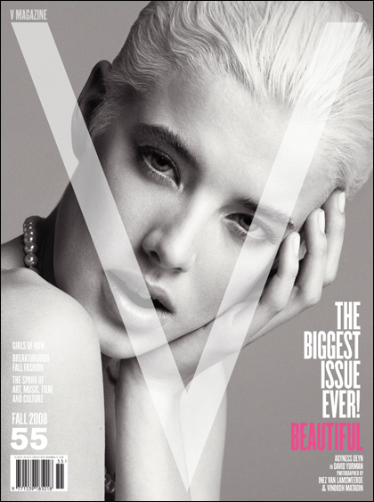 V Magazine 55 fall 2008 Agyness Deyn cover