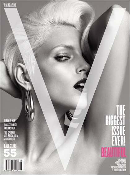V Magazine 55 fall 2008 Anja Rubik cover