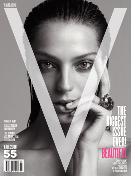 V Magazine 55 fall 2008 Daria Werbowy cover