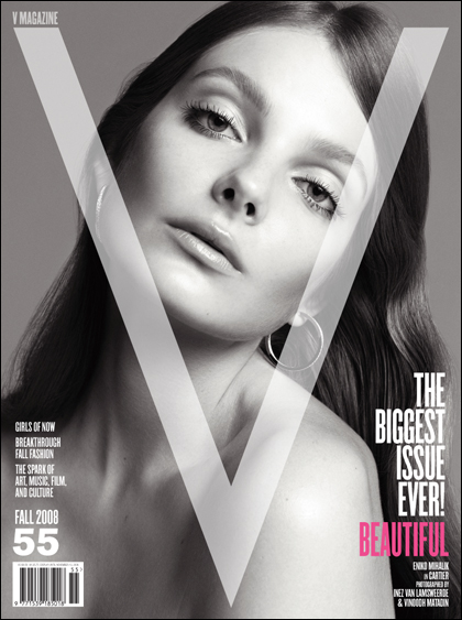 V Magazine 55 fall 2008 Eniko Mihalik cover