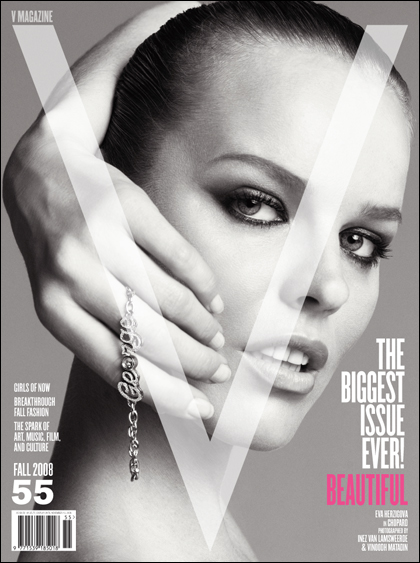 V Magazine 55 fall 2008 Eva Herzigova cover