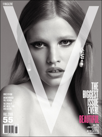 V Magazine 55 fall 2008 Lara Stone cover