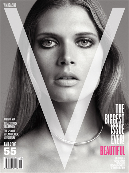 V Magazine 55 fall 2008 Malgosia Bela cover