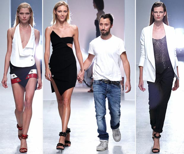Vaccarello Anja Rubik Spring Summer 2014 fashion show