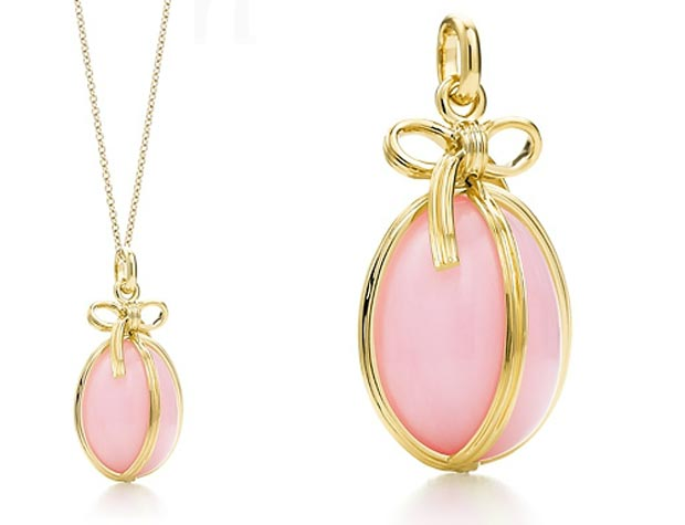 Valentine s day gifts ideas pink pendant Tiffanys