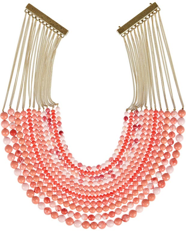 Valentine s day gifts ideas pink beaded necklace