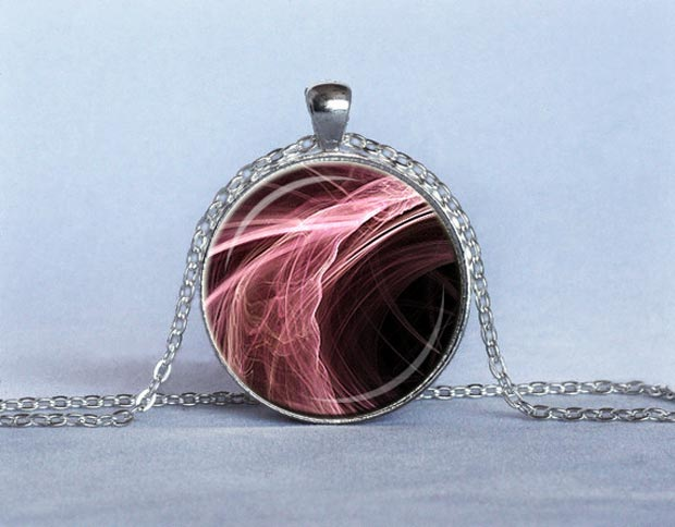 Valentine s day gifts ideas pink handmade pendant