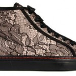 Valentino black lace sneakers