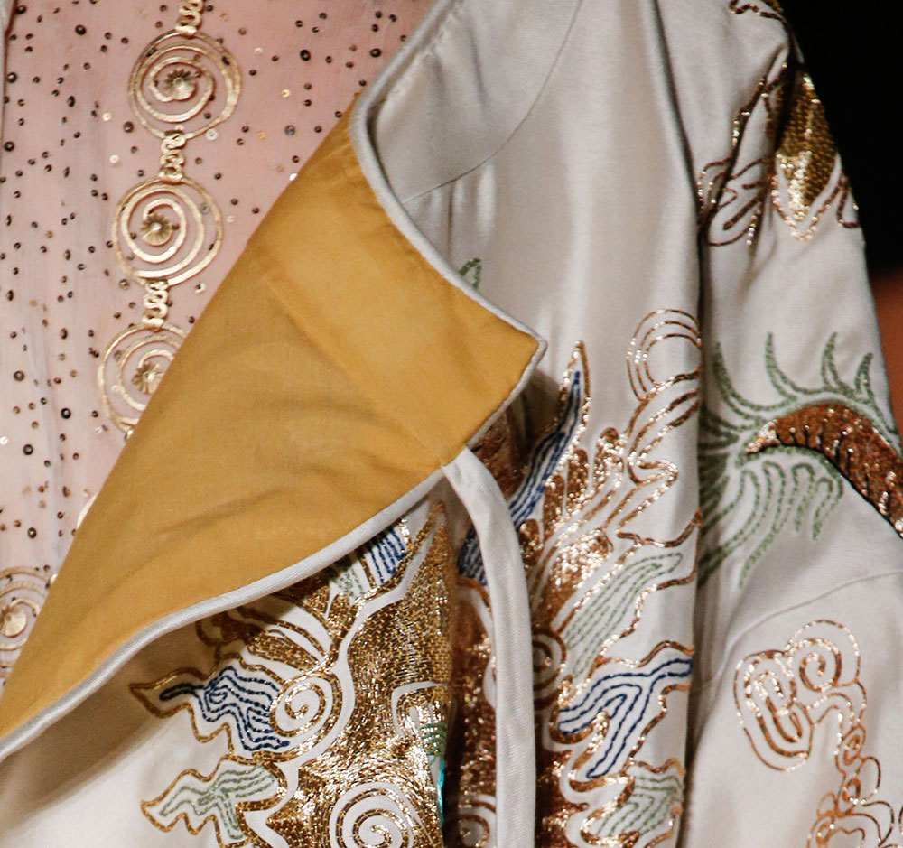 Valentino Couture stitching Spring 2016