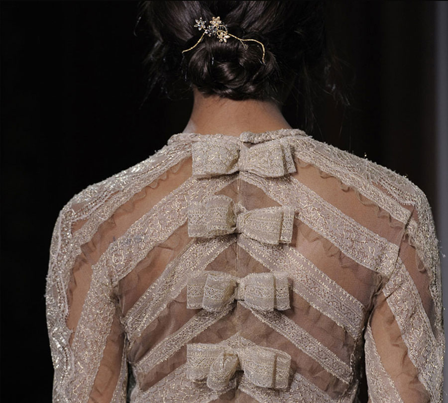 Valentino Haute Couture Fall 2011 bow dress detail