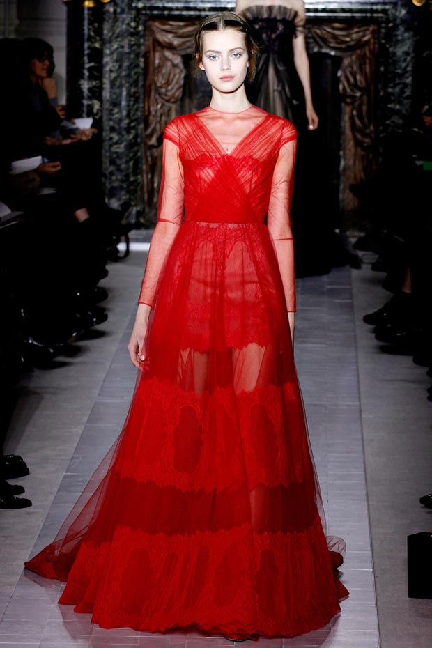 Valentino Spring 2013 Couture red dress