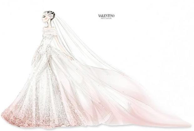 Valentino wedding dress designed for Anne Hathaway wedding