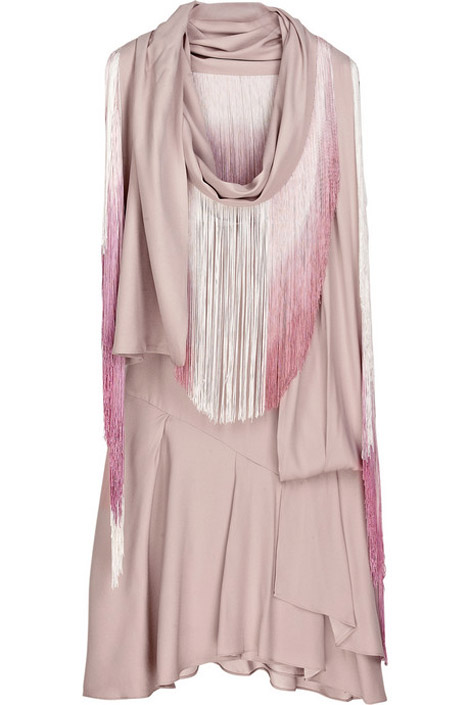 Vanessa Bruno pink fringe dress