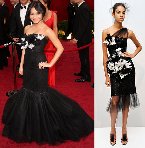 vanessa hudgens marchesa dress oscars 2009 1