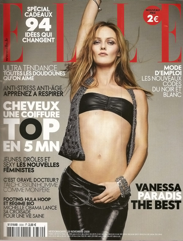 Vanessa Paradis Elle November 2009 cover