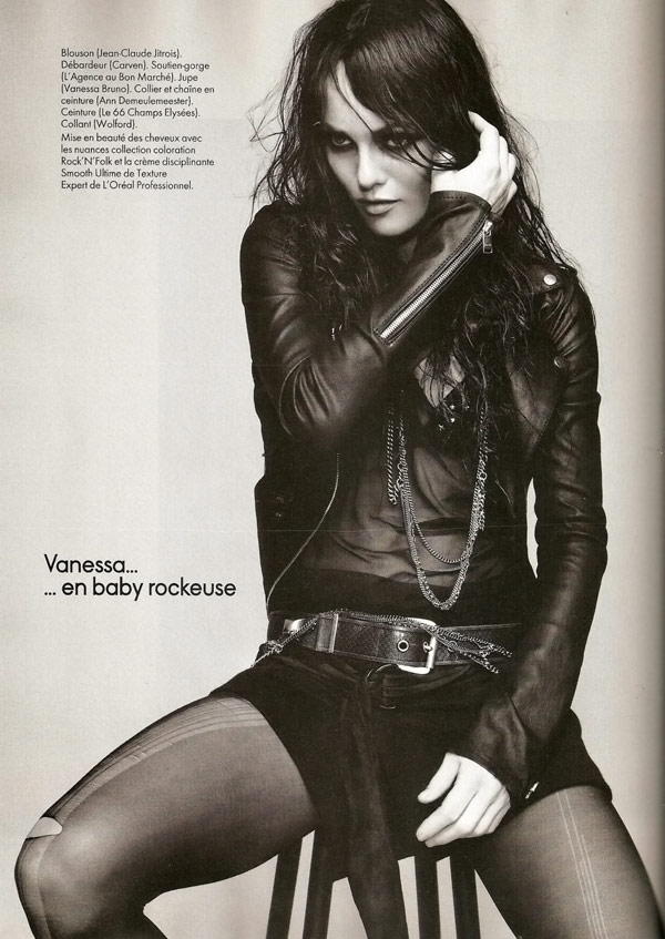Vanessa Paradis Elle November 2009 rock