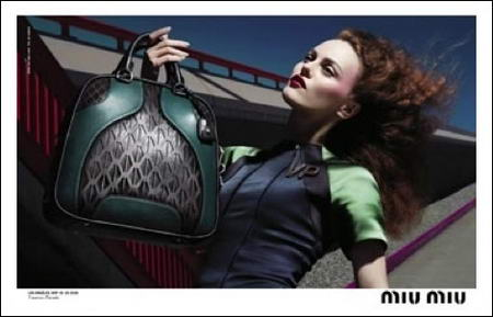 Vanessa Paradis Miu Miu ads Fall Winter 2008 2009