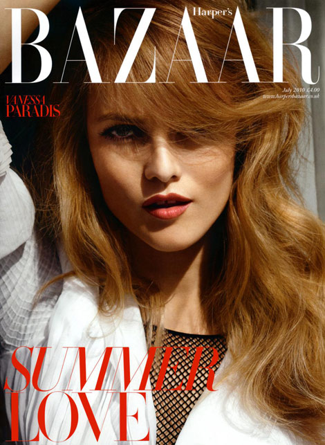 Vanessa Paradis Does UK Harper's Bazaar July 2010