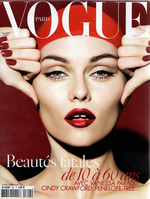 Vanessa Paradis Vogue Paris November 2008 cover