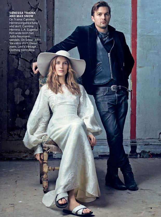 Vanessa Traina and husband Max Snow in Vogue