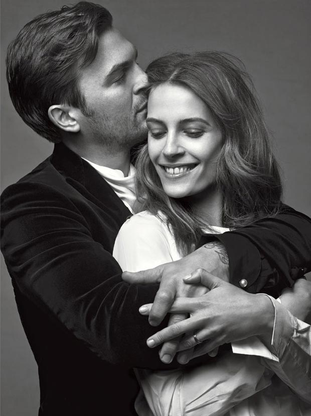 Vanessa Traina and husband posing in Vogue