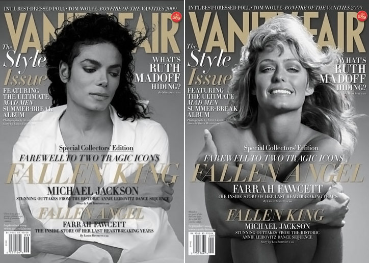 Vanity Fair September 2009 Michael Jackson Farrah Fawcett cover large