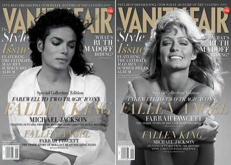 Vanity Fair September 2009 Michael Jackson And Farrah Fawcett