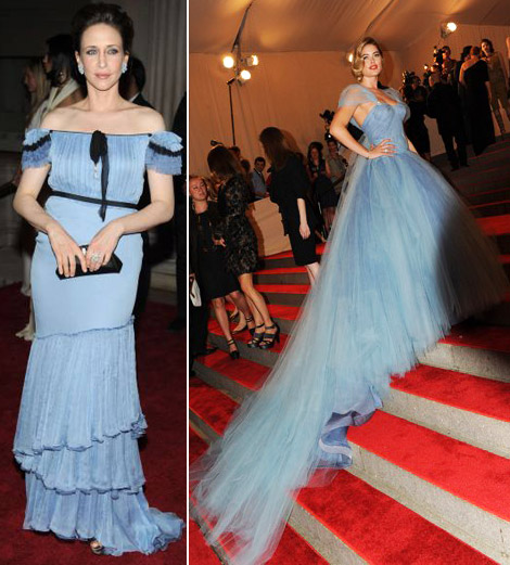 Vera Farmiga blue dress Doutzen Kroes blue dress Met Gala 2010