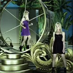 Versace H & M Ads Used All The Gold Paint In London