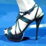 Versace sandals worn by Cindy Crawford