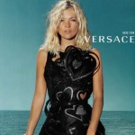 Versace Spring Summer 2009 ad campaign Kate Moss hearts dress