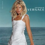 Versace Spring Summer 2009 ad campaign Kate Moss white dress