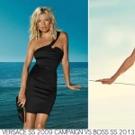Versace SS 2009 Boss SS 2013 similar ad campaigns