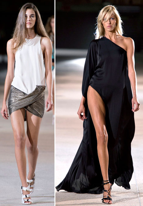 Anthony Vaccarello's Daring Dresses Come Back For Spring Summer 2013. Anja Too.