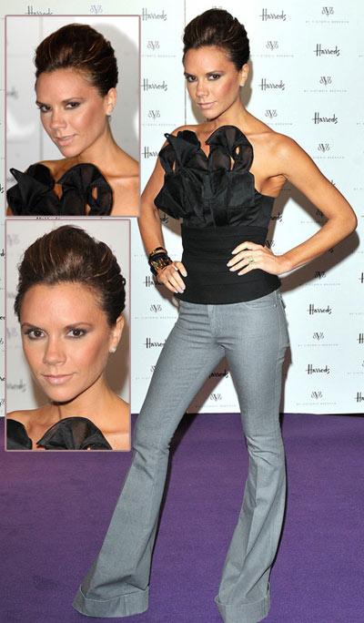 Victoria Beckham Smiles! And Launches New Denim Collection