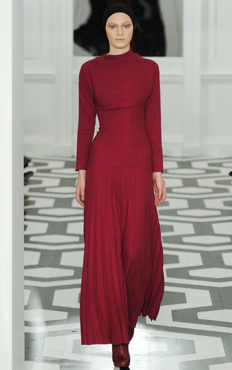 Victoria Beckham Fall Winter 2011 2012 collection Julia Nobis