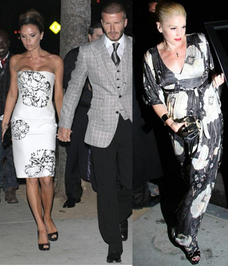 Katie Holmes Golden Appearance For Victoria Beckham's 34th Black And White Birthday