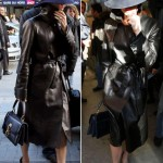 Victoria Beckham Leather hat detective look