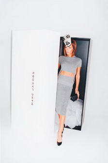 Victoria Beckham for Marc Jacobs Coming out of the Box