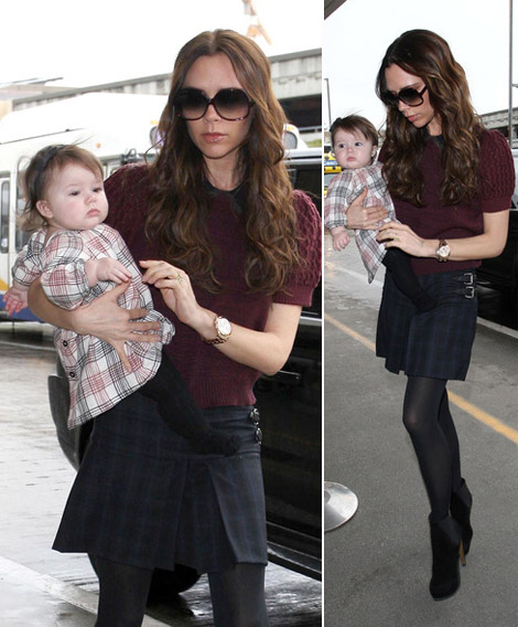 victoria Beckham matching outfits with baby Harper Seven