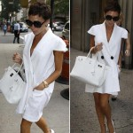 Victoria Beckham Short Haircut white dress