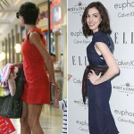 Victoria Beckham toys shopping and Anne Hathaway Elle event wearing high heels
