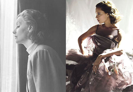 Victoria Beckham Vogue April - Cecil Beaton Greta Garbo