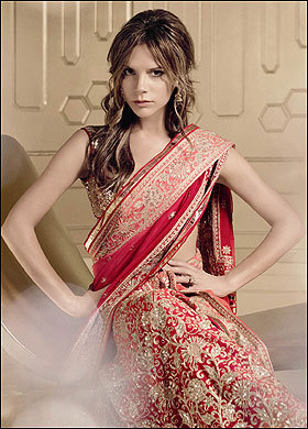 Victoria Beckham for Vogue India November 2008 the indian bride