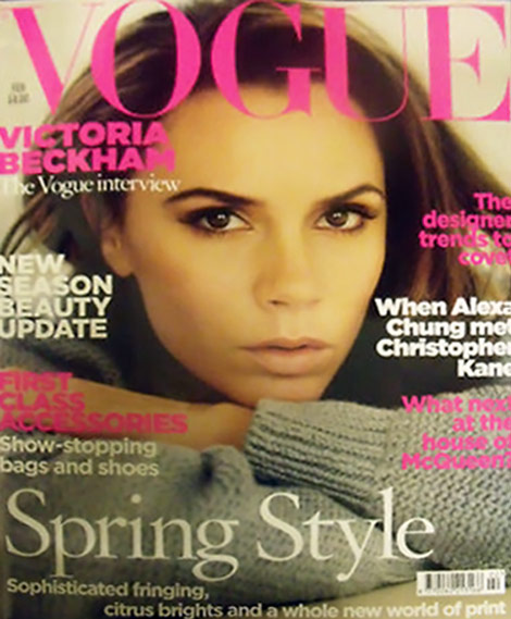 Victoria Beckham&#8217;s Vogue UK February 2011