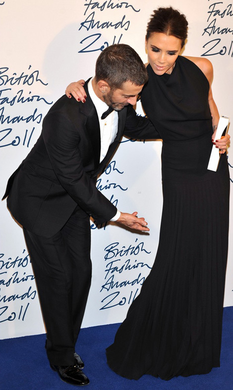 Victoria Beckham with Marc Jacobs at the British Fashion Awards