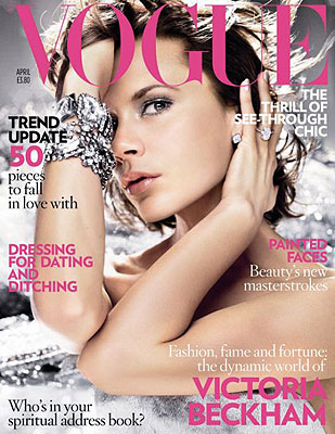 Victoria Posh Beckham Cover Vogue UK April 2008
