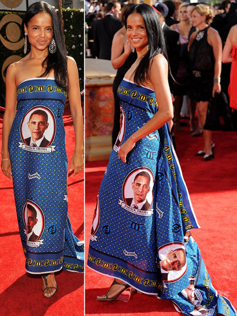 Victoria Rowell's Obama Dress At 2009 Emmy Awards