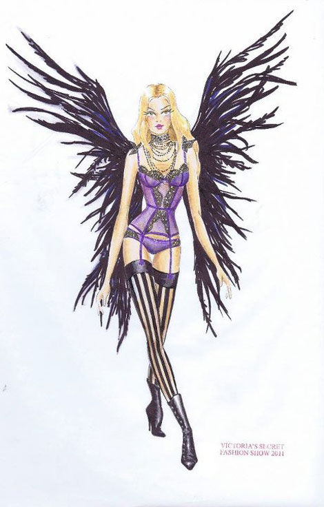 Victoria s Secret 2011 Fashion Show first look feathered wings