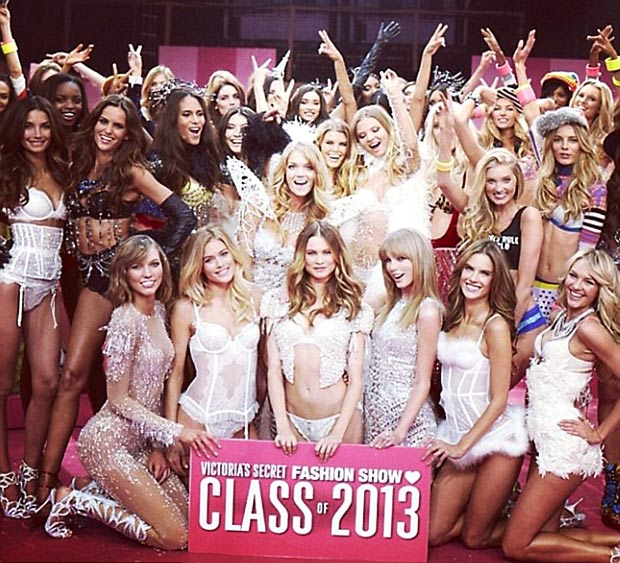 Victoria s Secret 2013 fashion show backstage models